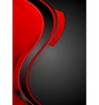 Bright contrast red black wavy background vector image vector image