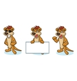 Brown Meerkat Mascot happy vector image