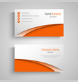 business card with arches in orange white design
