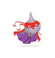 cartoon character of superhero onion in flying vector image vector image
