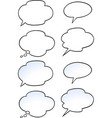 cartoon of a set speak bubble vector image