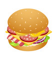 cheesburger icon isometric style vector image