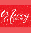 christmas background with decorative text and vector image vector image