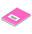 colorful blank spiral notebook isometric vector image