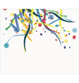Confetti isolated on a white background vector image vector image