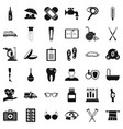disabled health icons set simple style vector image vector image