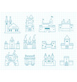 drawn castles gothic medieval royal architectural vector image vector image