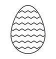 easter egg thin line icon decoration and easter vector image vector image
