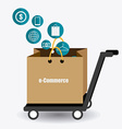 Ecommerce design vector image