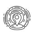 ecommerce geo location icon hand drawn icon set vector image vector image