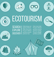 Ecotourism flyer poster vector image vector image