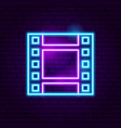 film strip neon sign vector image vector image