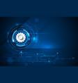 futuristic circuit board-gear wheel 4-16-18-1 vector image vector image