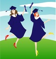graduation girl vector image