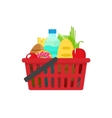 Grocery shopping basket full vector image vector image