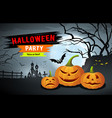 happy halloween party background vector image vector image