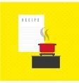 healthy cooking design vector image