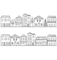 houses and trees - background patt vector image vector image