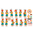 indian old woman poses set elderly people vector image vector image