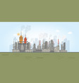 industrial zone with factories vector image vector image