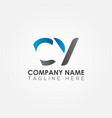 initial cy letter logo with creative modern vector image vector image