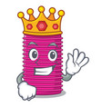 king curlers hair in shape cartoon funny vector image