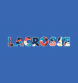 lacrosse concept word art vector image vector image