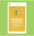 leaf mobile vertical banner design design vector image vector image
