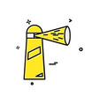 light house icon design vector image
