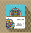 Mandala pattern name card template