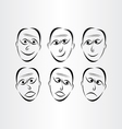 men faces emotions symbols vector image vector image