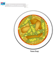 Nama Salad One of Most Famous Food in Fiji vector image