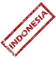 New Indonesia rubber stamp vector image vector image
