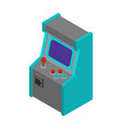 old arcade machine gaming retro video game play vector image vector image