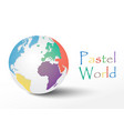pastel world vector image vector image