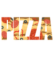 Pizza sign vector image vector image