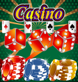 Poker Casino Cards Background Gambling Symbol Play vector image vector image