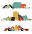 professional swimming equipment set in fl vector image