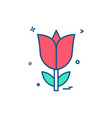 rose flower love icon design vector image vector image
