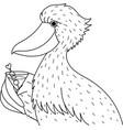 shoebill vector image vector image