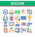 soccer football game collection icons set vector image vector image