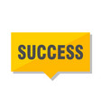 success price tag vector image