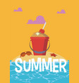 summer and vacations cartoons vector image vector image