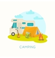 Summer Camping Design vector image