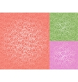 seamless roses pattern set wallpaper vector image