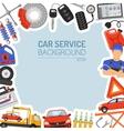 Car Service Frame vector image