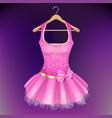 pink dress on hanger vector image