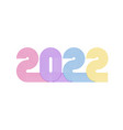 2022 line retro 70s style numbers new year