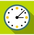 Big wall clock icon flat style vector image vector image