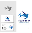 bird logo template with business card design vector image